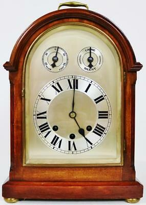 Superb Antique German Mahogany Domed Top Musical Westminster Chime Bracket Clock