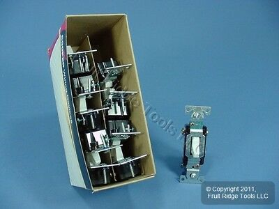 10 Cooper Wiring White COMMERCIAL Toggle Wall Light Switches 3-Way 15A CS315W