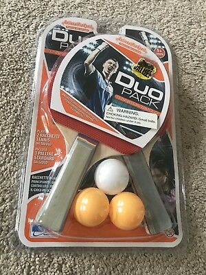 aaa0c3109 5pc TABLE TENNIS PING PONG Duo Pack Set 2 Rackets 3 Balls