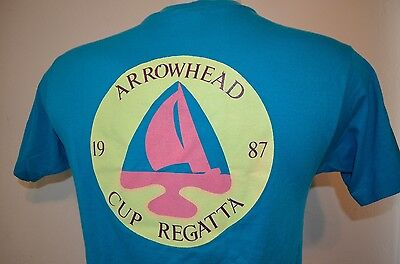 Great Lakes Yachting Arrowhead Regatta Sailboat Yacht Sailing M T-Shirt VTG 80s