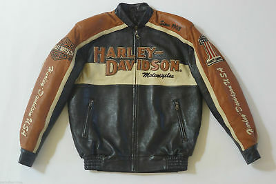 Bar Harley Davidson Prestige Usa Jacket Men Leather Made Qthrsd