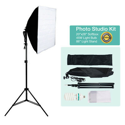 "Photography Studio Kit 86"" Light Stand 24"" Soft Box 105W Continuous Lighting"