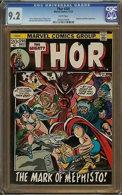 Thor #205 CGC 9.2 Picture Frame White Pages Mephisto & Hitler Appearance