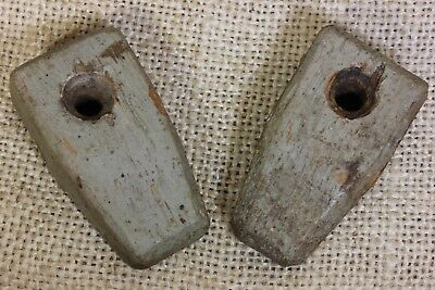 "2 wood cabinet 1 7/8"" turn button latches Jelly cupboard old vintage 1800's"