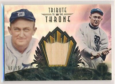 TY COBB 2014 Topps Tribute to the Throne #TC BAT RELIC /99 TIGERS HOF (2013)