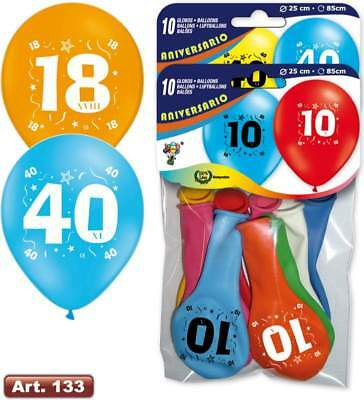 Balloon Printed Aniversary/Birthday 15 Age or Year Numeric Number Party Decorati