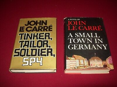 2 John Le Carre Hardcovers ~ Tinker Tailor Soldier Spy ~ A Small Town in Germany