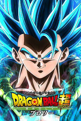 Dragon Ball Super Broly Movie Poster Gogeta Face 12inx18in Free Shipping