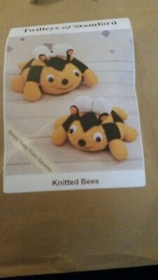 Twilleys of Stamford Easy Knitted Bees Knitting Kit contains Needles Free Post