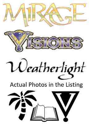 MTG Magic the Gathering Mirage Block, Visions, Weatherlight Mix. Multi Listing