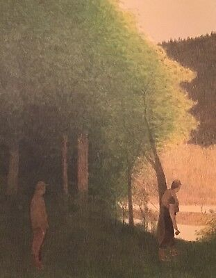 Russell Chatham Two Men Fishing Rock Creek Original Pencil Signed Lithograph Art