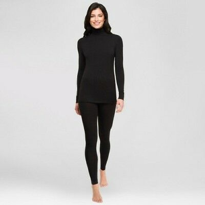 bab0499242b NEW Warm Essentials Cuddl Duds Women's Smooth Stretch Thermal Long Sleeve  Top S