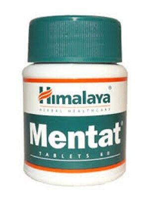 3x Himalaya Herbal Mentat 180 Tabs - For Concentration & Stress Relief-UK Ship