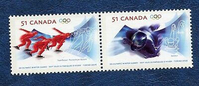 CANADA SC# 2144a XX OLYMPIC WINTER GAMES SE-TENANT PAIR MNH VF STAMPS