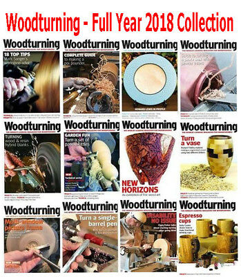 Woodturning Collection - 12 Magazines - 2018 Full Year Issues - Digital PDF