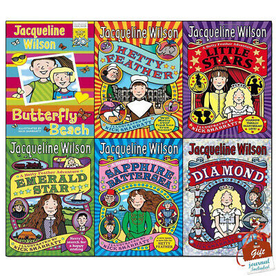 Jacqueline Wilson Hetty Feather Series 6 Books Collection Set with gift journal