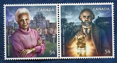 CANADA SC# 2316a BLACK HISTORY MONTH SE-TENANT PAIR , MNH VF STAMPS