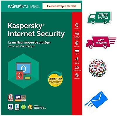 Kaspersky Internet Security 2019 Multidevice 1 An , Licence envoyée par mail