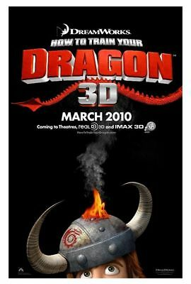 """HOW TO TRAIN YOUR DRAGON 2010 Advance Teaser DS 2 Sided 27x40"""" US Movie Poster"""