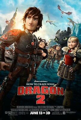 """HOW TO TRAIN YOUR DRAGON 2 2014 Original Final DS 2 Sided 27x40"""" US Movie Poster"""