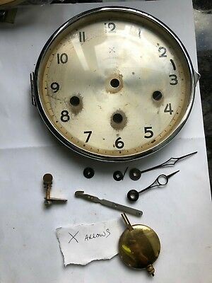 mantel clock face door hands etc cross arrows