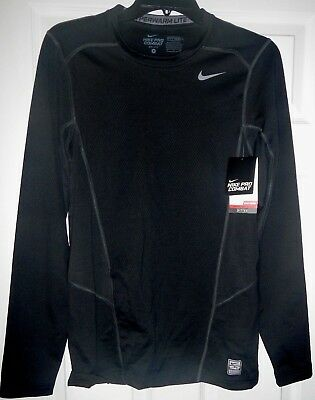 decaaefa75203 NEW Nike Pro Combat Fitted Shirt Mens S Hyperwarm Black Competition Base  Layer