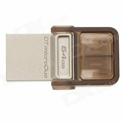 Kingston 64gb Datatraveler Microduo Usb 3.0 On-the-go Flash Drive (dtduo3/64gb)