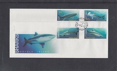 Norfolk Island 2004 Sharks First Day Cover FDC Norfolk Island pictorial fdi pmk