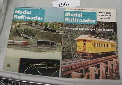 Model Railroader Magazine Complete Year 1967 12 issues