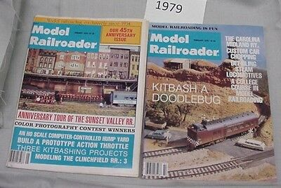Model Railroader Magazine Complete Year 1979 12 issues