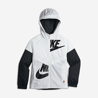 f273a9620d1 NIKE GIRLS SPORTSWEAR Windrunner Hooded Windbreaker Jacket Gray ...