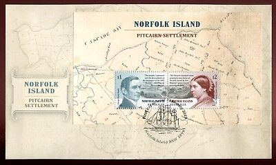 2019 Norfolk Island Pitcairn Settlement (Mini Sheet) FDC - Norfolk Island PMK