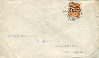 1924 - Ireland  - Cover To London From Port Laoighise