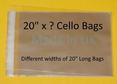 "20"" x ? Cellophane Display Bag - Different Lengths Available"