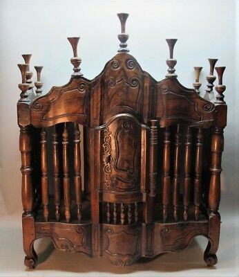 Superb 18th C. FRENCH WALNUT PANETIERE Bread Cabinet  c. 1780  antique wall