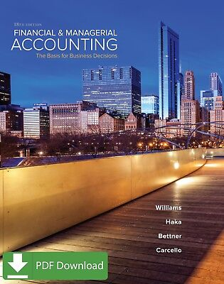 Loose Leaf for Financial and Managerial Accounting 18th Edition [PDF] EB00K