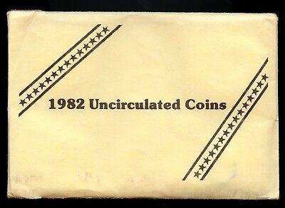 1982 P&d Us Mint Uncirculated Souvenir 12 Coin Mint Set Sealed
