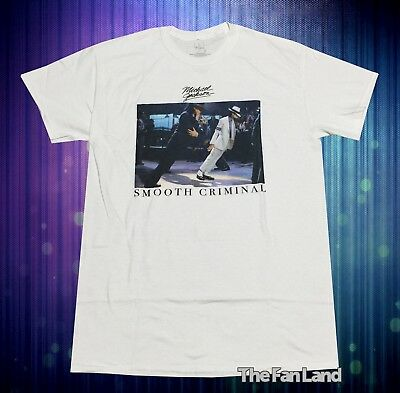 903aab4f8932 New Michael Jackson Smooth Smooth Criminal Retro White Vintage Mens T-Shirt