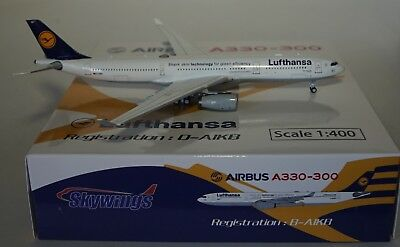 """Skywings 066 Airbus A330-343 Lufthansa D-Aikb """" Cuxhaven """" in 1:400 Scatola"""