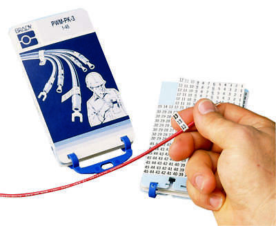 Porta-Pack Pre-Printed Wire Marker Book, 0-9 Nwk Pn: Pwm-Pk-1