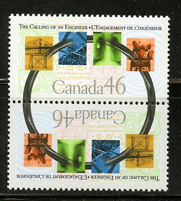 CANADA SC# 1848a THE CALLING OF AN ENGINEER SE-TENANT PAIR , MNH VF STAMPS