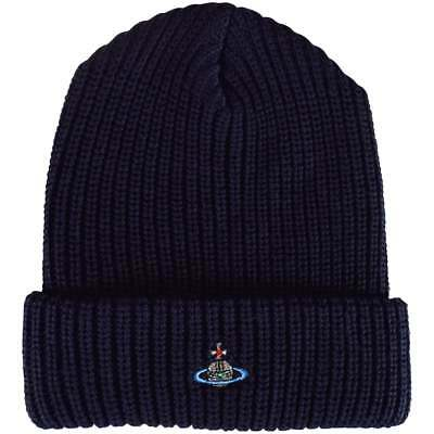 Vivienne Westwood orb classic mens beanie hat rrp £85 navy new VW accessory 3887d82cac7