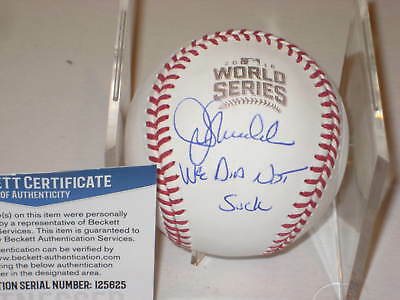 Autographs-original Wholesale Lots John Lackey Autographed Signed 2016 World Series Baseball Ball Beckett Bas Coa Buy One Give One