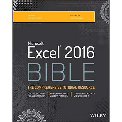 Microsoft Excel 2016 Bible Walkenbach (Corporate Author)