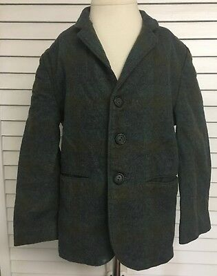 Vintage Boys Wool Three Button Blazer Suit Jacket