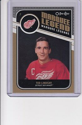 11/12 OPC Detroit Red Wings Ted Lindsay Marquee Legend card #535