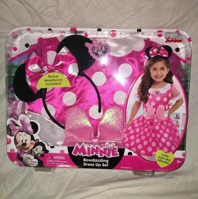 Disney Minnie Mouse Bowdazzling Girls Pretend Pink Vanity Table W