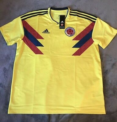 bc4b76f3eea   NEW   ADIDAS 2018 Colombia Home Soccer Jersey. Size  XL