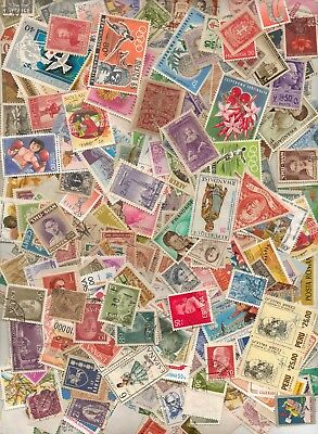 Worldwide Stamp Collection, 500 Stamps, Hand Stamped All Off Paper  All Used