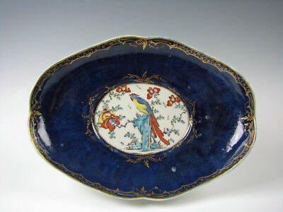 Antique 18th Century Worcester English Porcelain Ho-Ho Bird Bowl